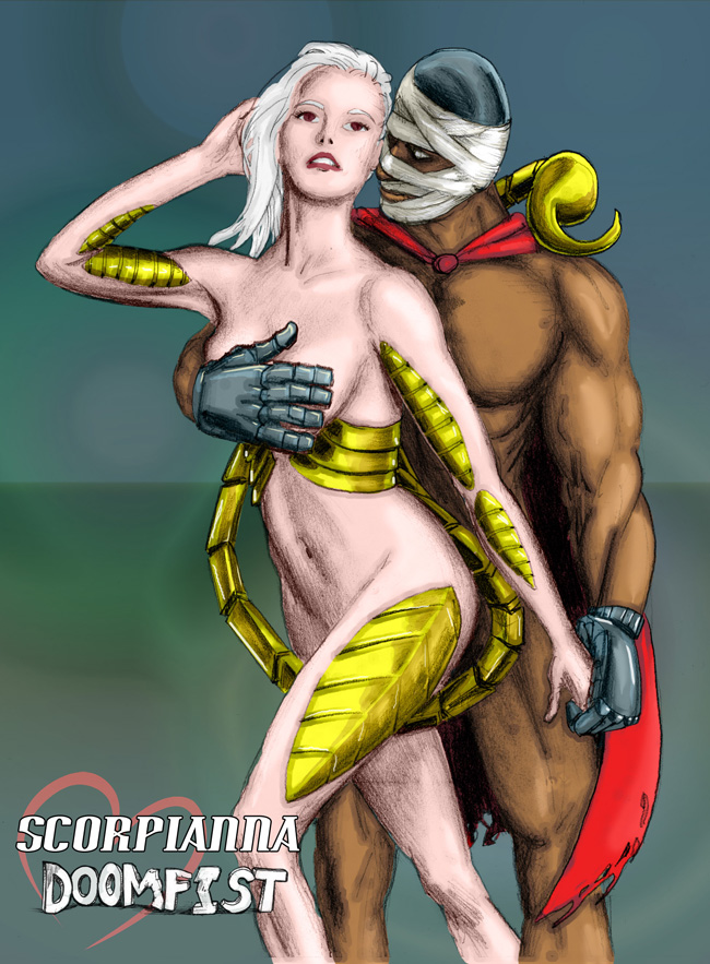 Do you remember Scorpianna? Ok, good. Now do you remember that she once dated Doomfist? Aha!
